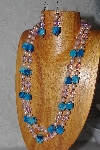 "+MBAHB #033-0060  ""Crazy Lace Agate & Mixed Bead Necklace & Earring Set"""