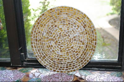 Antique Look Stained Glass Candle PLate