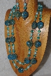 "+MBAHB #033-0011  ""Blue Porcelain & Mixed Bead Necklace & Earring Set"""