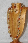 "MBAHB #033-219  ""Honey Porcelain & Mixed Bead Necklace & Earring Set"""