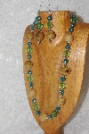 "MBAHB #033-213  ""Honey Porcelain & Mixed Bead Necklace & Earring Set"""