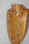 "MBAHB #033-199  ""Honey Porcelain & Mixed Bead Necklace & Earring Set"""