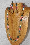 "MBAHB #033-193  ""Honey Porcelain & Mixed Bead Necklace & Earring Set"""