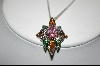 "**MBA #CW-MCPR  ""Charles Winston Multi Colored Cz Pendant & Matching Ring"