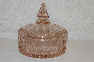 "**MBAHB #0025-0023  ""Vintage Pink Lidded Candy Dish"""