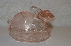 "**MBAHB #0025-0006  ""Pink Glass Rabbit Dish"""