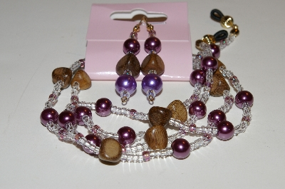 "MBAHB #0025-0094  ""Purple,Brown & Clear"""