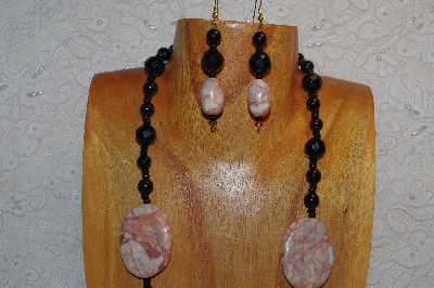 "MBAHB #312-0030  ""Redline Marble & Mixed Bead Necklace"""