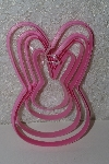 "**MBAMG #S99-0117  ""Set Of 4 Pink Bunny Cookie Cutters"""