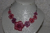 "**MBAMG #S99-0049 ""Epoxy Graduated Floral Necklace"""