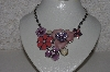 "**MBAMG #S99-0025  ""Multi Colored Floral Necklace"""