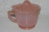 "+MBAMG #108-0058  ""Reproduction Pink Glass Measuring,Mixing & Reamer Cup"""