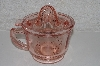 "+MBAMG #108-0061  ""Reproduction Pink Glass Reamer 3 in 1 Cup"""