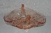"+MBAMG #108-0027  ""Vintage Candy Pink Glass Double Swan Dish"""