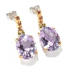 "**MBA #132-679  ""15.84 CTW Checkerboard Cut Pink Amethyst Earrings"""
