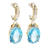 "**MBA #134281  ""24.08 CTW Swiss & London Blue Topaz Earrings"""