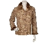 MBACF #A74681A- Denim & Co Fully Lined Printed Faux Suede Jacket W/Faux Fur Trim ""
