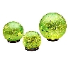 "Set Of 3 Indoor/Outdoor Mercury Glass Spheres ""Green"""