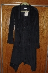 "**MBACF #598-0045   "" Black Velvet  Cross-Laced Bodice Long Coat"""