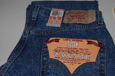 "MBACF #598-0063 ""Men's 501 Pre-Shrunk Button Fly Jeans"""