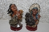 "**MBACF #999-0086  ""Set  Of 2 Native  American Figurines"""
