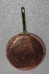"MBAAF #0013-0025  ""Older 8""  Medium Copper Fry Pan With Brass Handle"""