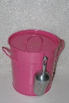 "**MBAAF #0013-0143  ""Pink Metal Ice Bucket With Scoop & Liner"""