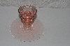 "**MBAAF #0013-0160  ""Vintage Pink Glass Candle Stick Holder"""