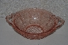 "**MBAAF #0013-0059  ""Vintage Pink Glass Cherry Blossom Serving Bowl"""