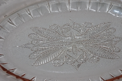 "**MBAAF #0013-0065  ""Vintage Jeannette Pink Glass Serving Bowl"""