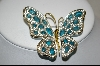 Nolan Miller Blue Cathedral ButterFly Pin