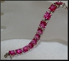 **Charles Winston Square Cut Created Pink Sapphire Bracelet