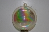 "+MBA #S29-232  ""1980's Set Of 6  150mm Iredescent Acrylic Ornaments"""