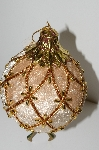 "MBA #S29-253  ""1980's Set Of 6 Large Fancy Velvet Pineapple Shaped Ornaments"""