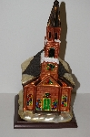 "+MBA #S30-060  ""2004 Thomas Pacconi Hand Blown Glass Victorian Style Table Top Church"""
