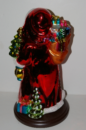 "+MBA #S30-052  ""2004 Thomas Pacconi Hand Blown Glass 17"" Table Top Victorian Santa"""