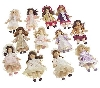 "MBA #S30-272  ""2004 Set Of 12 Porcelain 3-1/2"" Victorian Doll Ornaments"""