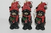 "+MBA #S29-118  ""Set Of 6 Black Bears With Gifts Ornaments"""