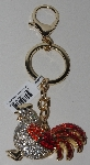 "MBAM #421-0036  ""Crystal Rooster Purse Charm/Key Ring"""