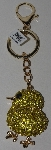 "MBAM #421-0029  ""Yellow & Black Chrystal Chick Purse Charm/Key Ring"""