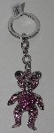 "MBAM #421-0042  ""Pink Crystal Bear Key Ring"""