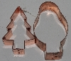 "MBAM #421-0063  ""Set Of 2 Older Christmas Copper Cookie Cutters"""