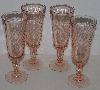 "MBAM #421-0052 ""Set Of 4 Made In France Pink Wine Glass's"""