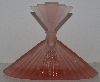 "MBAM #421-0064  ""Older Beautiful Pink Frosted Glass Fancy Perfume Bottle"""