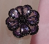 "MBAJ1-0080  ""Gem Treasures Pink Amethyst Black Dahlia Ring"""