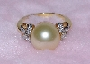 "Lamps II #0218  ""Beautiful Pale Yellow Tahitian Pearl & Diamond Ring"""