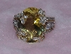 "Lamps II #0123  ""14K Yellow Gold LeVian Citrine & Diamond Ring"""