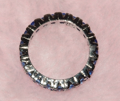 "Lamps II #0227  ""Sterling Blue Sapphire Eternity Band Ring"""