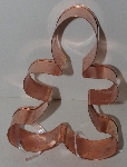 "LAMPS II #0060  ""1070's Copper Gingerbread Man Cookie Cutter"""