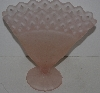 "Lamps II #0040  ""Older Fancy Pink  Frosted Glass Vase"""